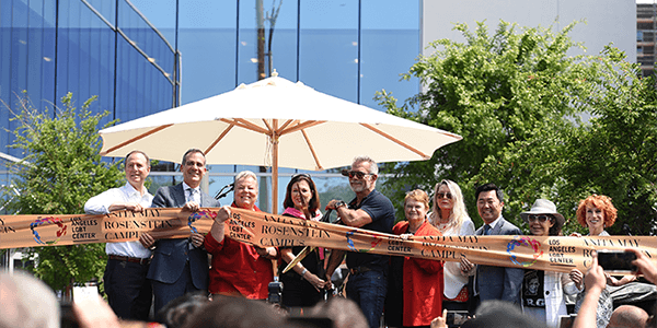The LA LGBT Center celebrated a ribbon cutting ceremony in April 2019 for their new Anita May Rosenstein Campus