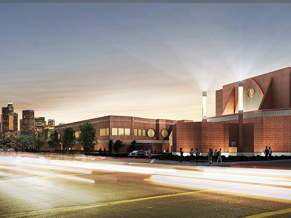 artist rendering of the completed Cathedral High School Performing Arts Center and Theater courtesy of cathedralhighschool.org