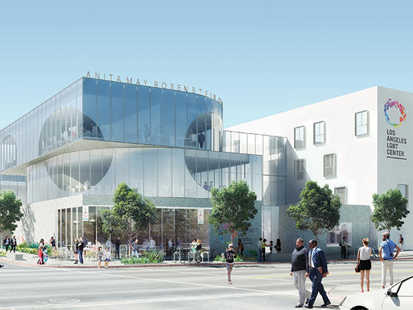 LA LGBT Center Anita May Rosenstein Campus render by Leong Leong, Architects