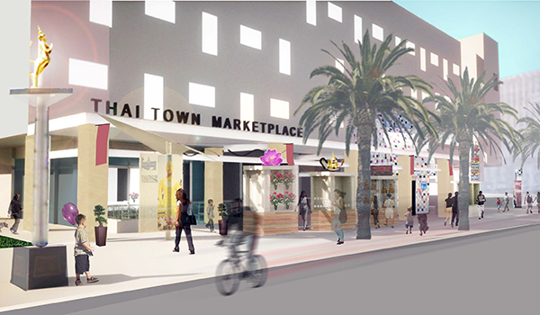 Thai Town Marketplace renderings courtesy of CSC Architecture