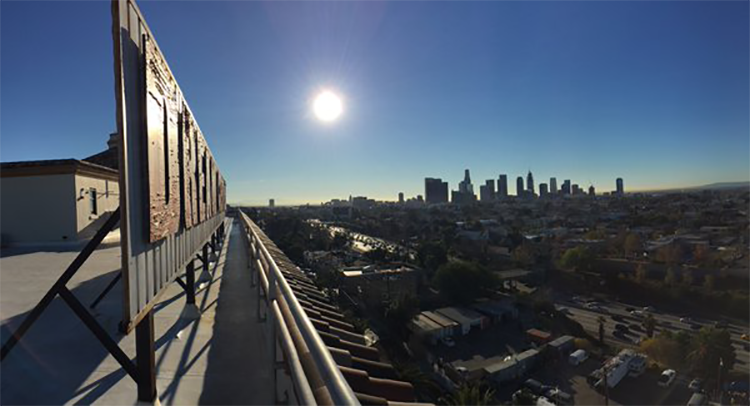 View of Downtown LA from the Dream Center, a LADF success story