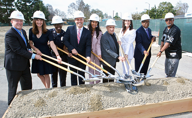 Photo from the ground-breaking ceremony. Image courtesy of Children's Institute