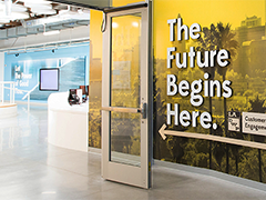 Interior of the La Kretz Innovation Campus; photo by Gary Leonard