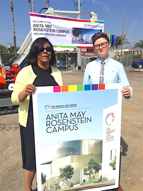 LA's LGBT Center's Anita May Rosenstein Campus Ground Breaking Ceremony with LADF Board Member Jan Perry